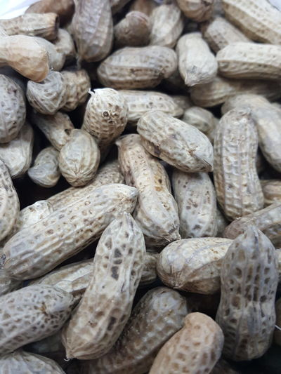 Full frame shot of peanuts for sale at market