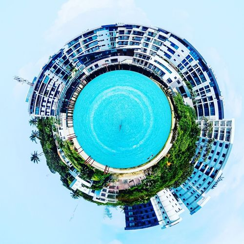 The English Point Marina _ Mombasa, Kenya Tinyplanet Ocean Creative Water Planet Earth Architecture Building Exterior Outdoors Built Structure Sky Day