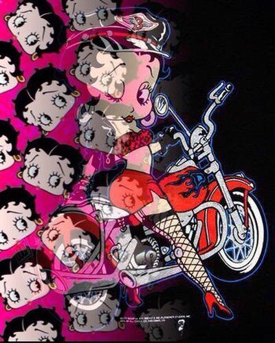 Betty Boop Betty Motorbike Character