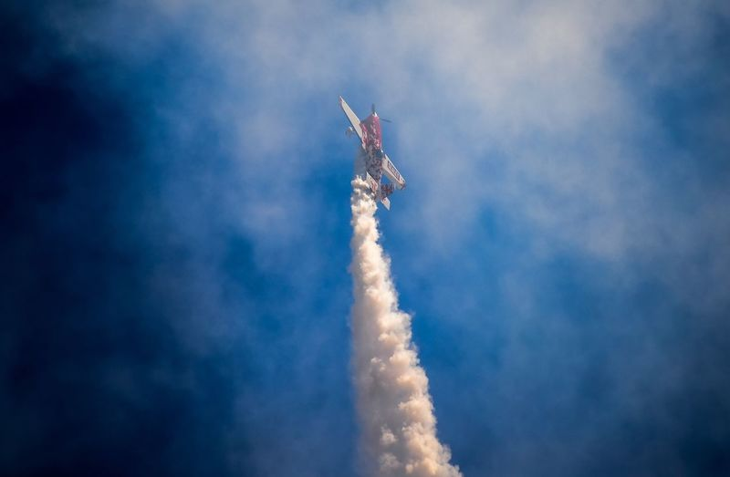 Low Angle View Smoke - Physical Structure Air Vehicle Vapor Trail Airshow Flying Transportation Speed Aerospace Industry Mid-air Performance Day Aerobatics Cloud - Sky Sky Motion Space Travel Vehicle No People Outdoors Military Airplane