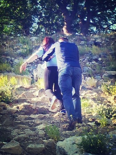 teos'ta dağ tepe tırmandık :-)
