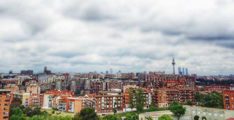 Pan Panorama Maqueta Madrid Madrid Spain Sky City Cityscapes