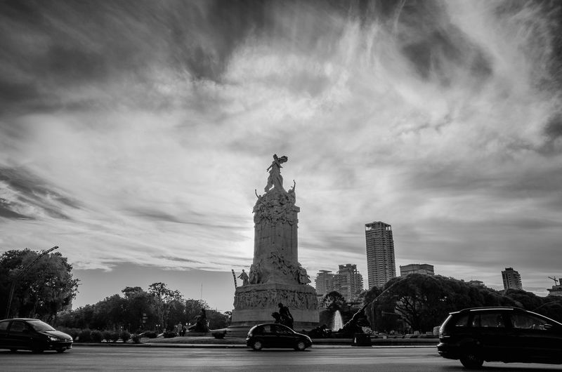 The mobility in Buenos Aires Cars EyeEm Best Shots EyeEm Selects EyeEmNewHere Mobility In Mega Cities Sky And Clouds Architecture Art And Craft Bnw_captures Bnw_collection Bnw_society Car City Cloud - Sky Land Vehicle Low Angle View Monument Sculpture Sky Statue Street Street Photography Streetphoto_bw Travel Travel Destinations The Street Photographer - 2018 EyeEm Awards