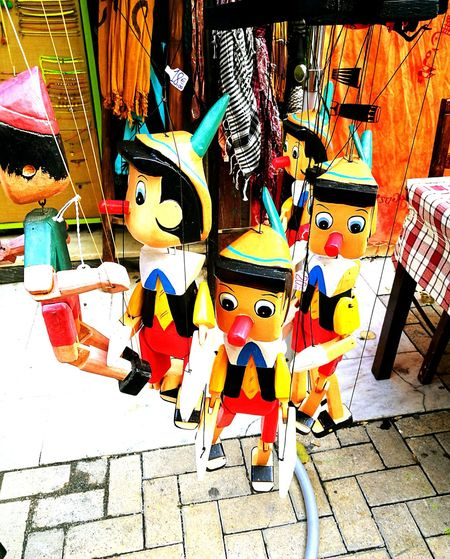 Tradition No People Close-up Outdoors Hanging Multi Colored Day Pinokio Toys Traditional Culture Gift Gifts ❤ Giftshop