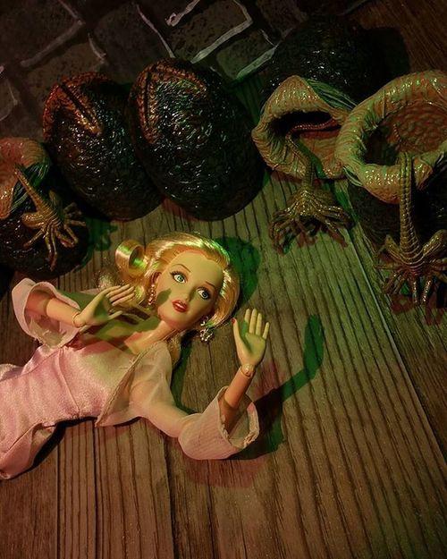 Barbie regrets not forking over the extra bucks for non-GMO eggs... ************* Doll Dolls Dollstagram DollPhotography Dollphotogallery Dollphoto Toy Toys Toyphotography Toyphotogallery Toycrewbuddies Toygroup_alliance Toyplanet Toys4life Toyrevolution Alien Aliens Xenomorph Facehugger Barbiedoll Mattel Kingkong  Peril toyhumor toyhumour horror justanothertoygroup