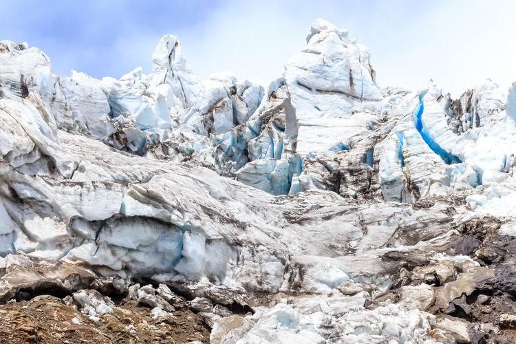 Glaciar Ice Animal Themes Blue Cayambe Day Ecuador Glacial Glacier Glaciers Hielo Landscape Mountain Mountain Range Nature No People Outdoors Sky Snow Southamerica Volcano Shades Of Winter