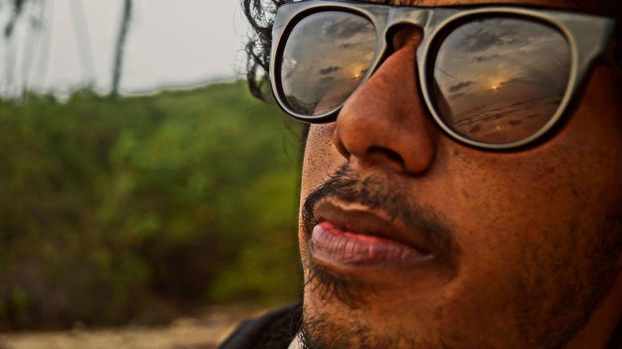 Closeup RichKidLife Being A Beach Bum Sunshine Enjoying The Sunset Lovelovelove ShineGlasses Selfie ✌