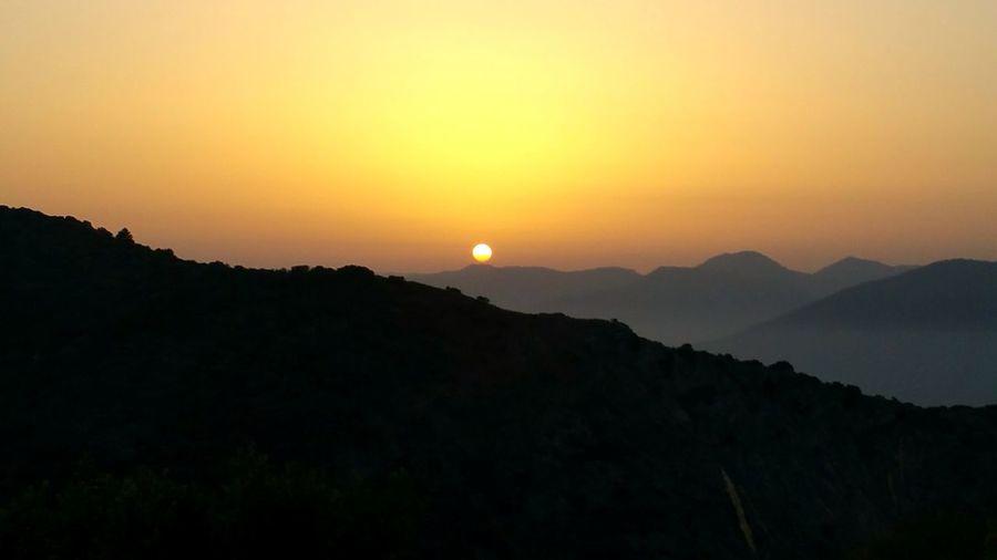 Mountain Sunset No People