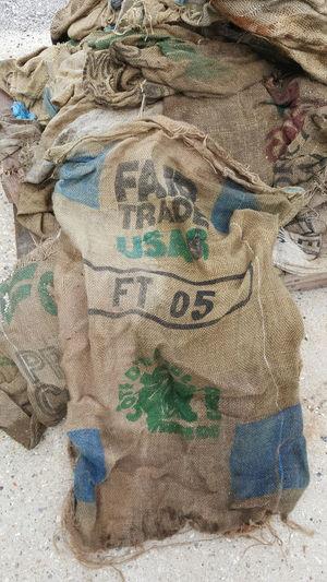 Burlap Bags Close-up Fair Trade Ba Fair Trade U Fair Trade Us Old Old Burlap Bag Outdoors Pattern Still Life Textile