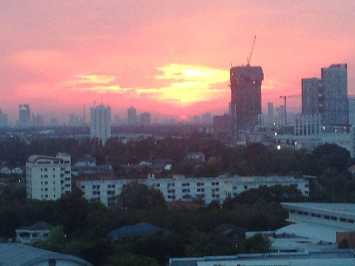 Built Structure City Cloud - Sky Nature Orange Color Residential District Sky Sunset
