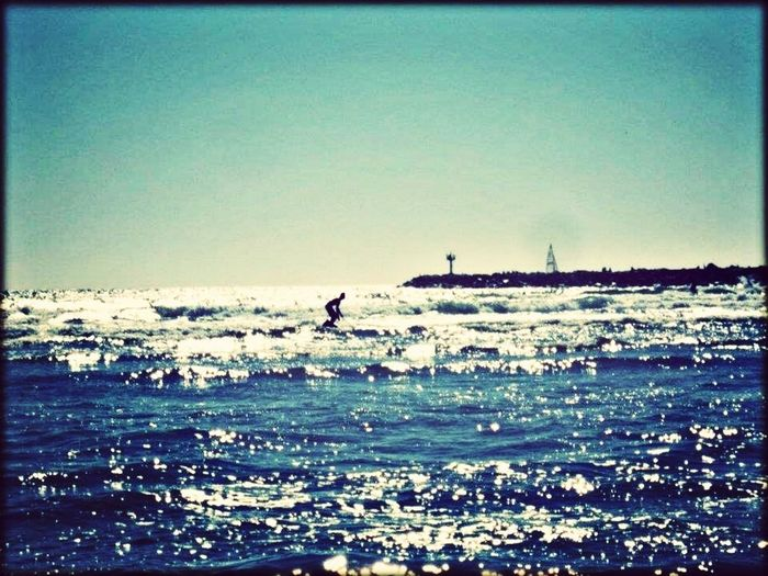 My 12 Year Old Enjoying The Ocean On His Board