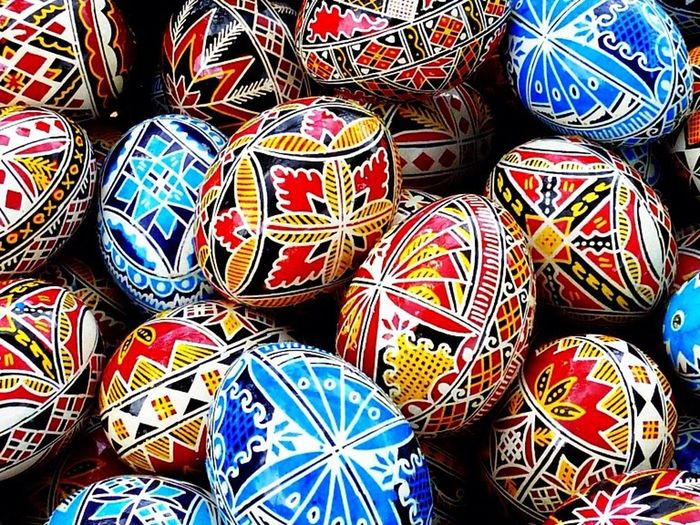 Good Things Come In Small Packages With Lightcase Art Beautiful Present Painted Easter Eggs from Indonesia
