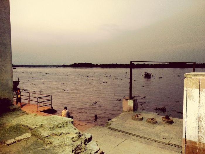 Yamuna River Holy Holyriver Vrindavan Mathura Krishna Spirituality Radhe Krishna Water Sand Sky Horizon Over Water