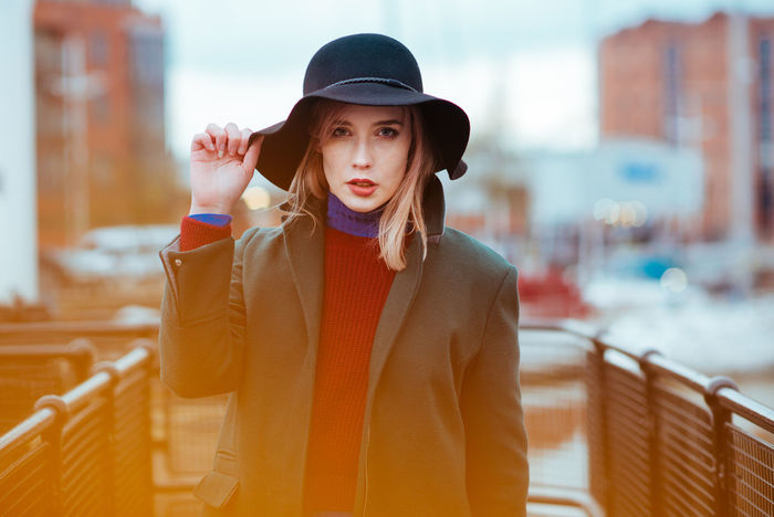 Kate Bokeh Bokeh Photography City Editorial  EyeEm EyeEm Best Edits EyeEm Gallery EyeEmPortraits Fashion Fashion Model Hat Hull Hull City Of Culture 2017 Model Modelphotography Nikon NikonD800 One Person Outdoors People Photographer Photography Photoshoot Portrait Uk