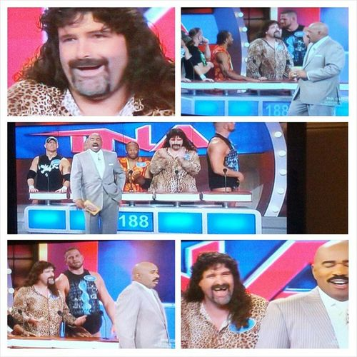TNA  is on the FamilyFeud say what?! MickFoley awesome!