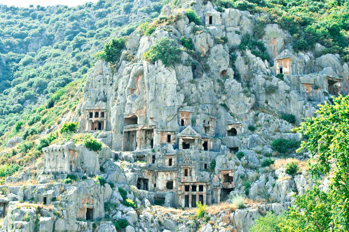 Aerial View Ancient Ancient Civilization Architecture Culture Day Demre Famous Place History Mountain View Old Old Ruin Ramble Rock Rock - Object Rock Formation Stone Stone Wall Summertime The Past Top Perspective Tour Trip Turkey Vacation