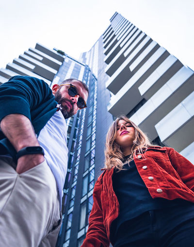 Gae Aulenti, Milano Italy Milano Milan Lombardia Gae Aulenti Streetphotography Street Portrait Portrait Of A Woman People Friends Friend Couple Happy Happiness EyeEm Best Shots EyeEmNewHere EyeEm Selects Architecture Young Adult Real People Built Structure Two People Low Angle View Men Building Exterior Young Men Lifestyles Leisure Activity Standing Adult City Three Quarter Length Males  Sky Mid Adult Men Office Building Exterior Outdoors Skyscraper
