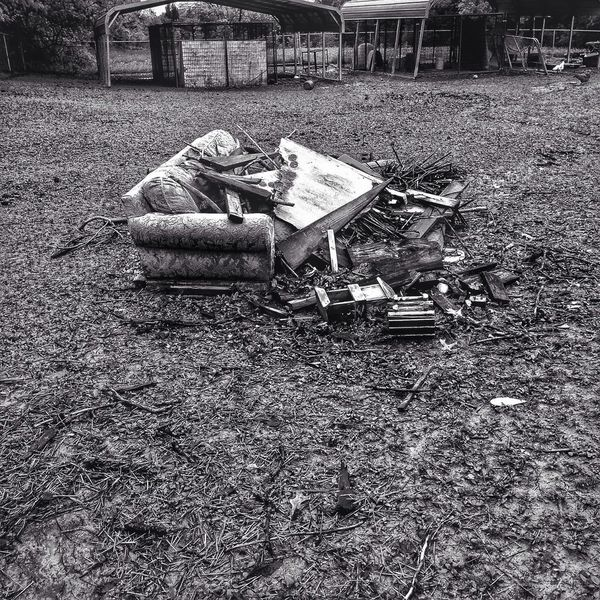 Country Life Rustic Blackandwhite Couch Rubbish Farm Life Showing Imperfection