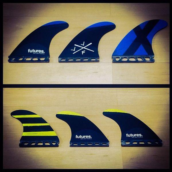newフィン購入。Futures . Surfboardfin TECHFLEX Johnjohn Midium