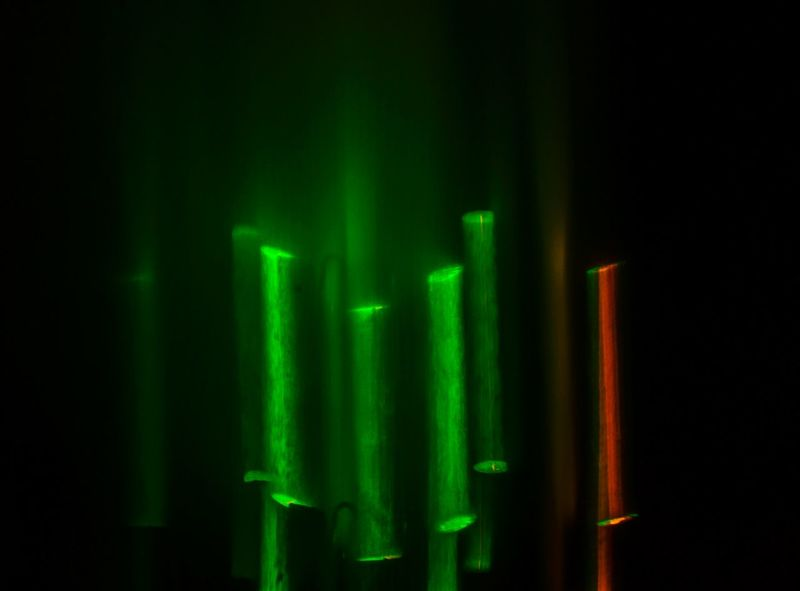 Lightart looked like Colourful Bamboo Sticks. Light And Shadow Bulbmode Picturesque Hanging Out Clourful Instapic