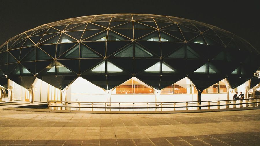 Night Architecture Illuminated Building Exterior Built Structure Dome Pattern Luminosity City Outdoors Eyeem Philippines Mosque Hamad International Airport Doha,Qatar