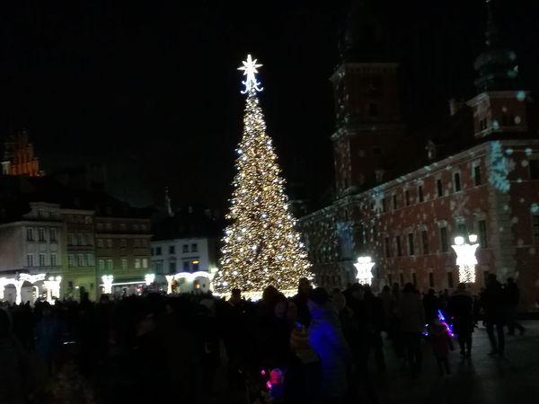 Christmas Tree Christmas Lights City Christmas Decoration Night Christmas