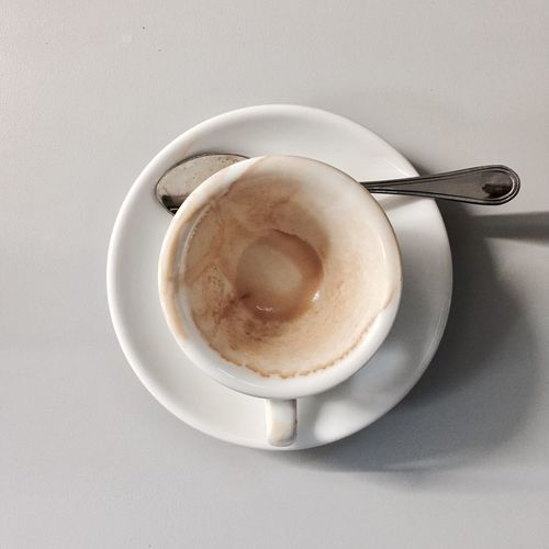 Coffee Cup Coffee - Drink Food And Drink Drink Refreshment Table Freshness Cup Directly Above Still Life Saucer No People High Angle View Frothy Drink Beverage Food Cappuccino Indoors  Breakfast Close-up