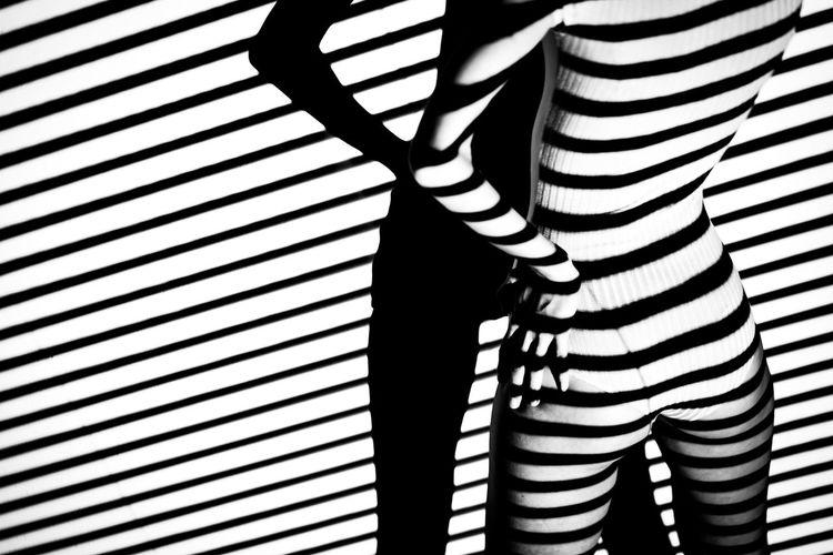 Bnw Bnw_collection Body & Fitness Body Curves  Body Language Czech Model Day Eye4photography  EyeEm Best Shots EyeEm Gallery Fashion Indoors  Legs Lines Minimalism Minimalist Modeling Pattern Portrait Shadow Shadows & Lights Striped Woman Woman Of EyeEm Woman Portrait