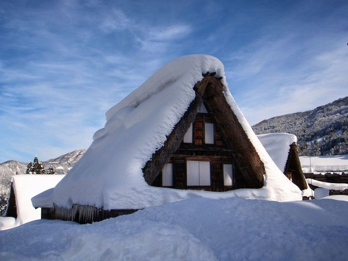 Snow Cold Temperature Winter Landscape No People Travel Destinations Day Nature Beauty In Nature Scenics Architecture Sky Japanese  Japanese  Japan Photos 日常生活 Lifestyle Photography JapaneseStyle Japanese Culture 日常 Japanese Photography Japanesetraditionalculture EyeEm Selects Cultures Japanesetradition