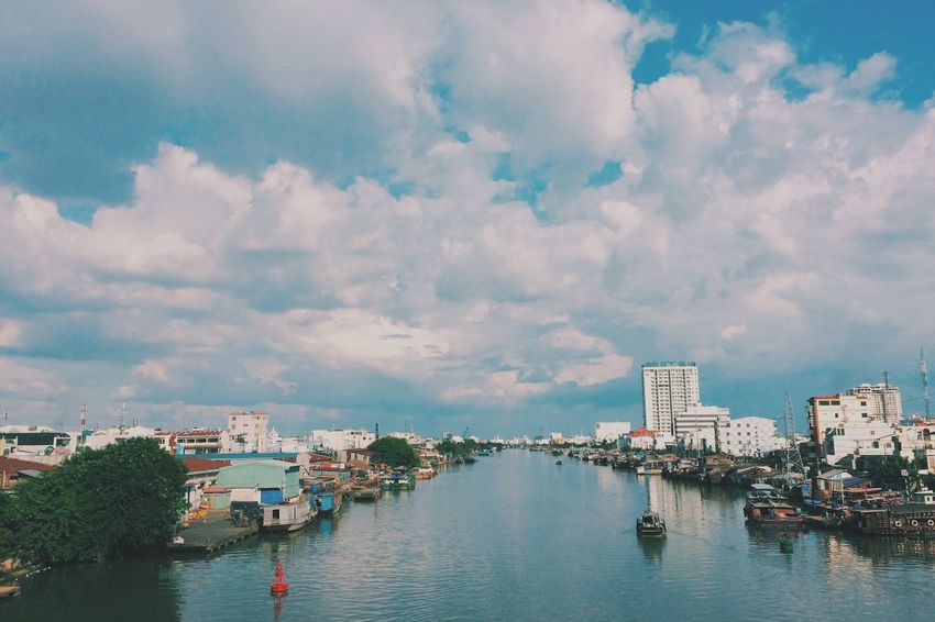 Saigon Vietnam River VSCO Vscocam Faded Blue Clouds And Sky Peace