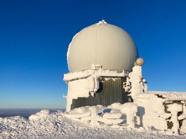 Military Radar Sky Clear Sky Blue Nature Day Sunlight Land Dome Cold Temperature