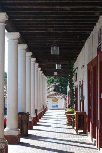 Colonial town of San Sebastian Del Oeste, Mexico Jalisco Mexico San Sebastian Del Oeste Travel Colonial Colonial Architecture Columns Columns And Pillars Tourism Tourism Destination Travel Destinations