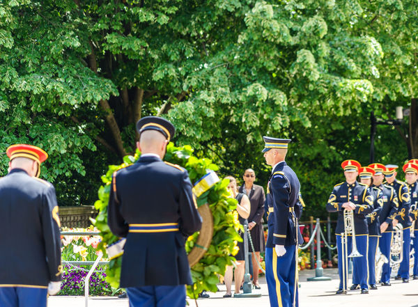Arlington National Cemetery Armed Forces Casual Clothing Day Graveyard Green Color Growth Heroes Honor Guard Leisure Activity Lifestyles Men Military Nature Outdoors Police Respect Soldiers Tomb Of The Unknown Soldier Tree Up Close Street Photography Washington, D. C.