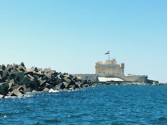 Flag Blue Sea
