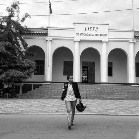 Wear it Style It Full Length Arch Architecture Adults Only Day Built Structure Travel Destinations One Woman Only Adult One Person Only Women Outdoors Real People Vacations People Building Exterior Politics And Government Fashion Photography Streetphotography Streetphoto_bw Monochrome Photography MadeInTimorLeste Blackandwhite Photography MyPhotography The Street Photographer - 2017 EyeEm Awards