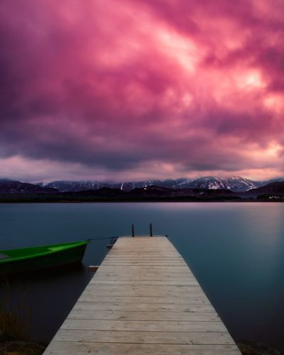 Hopfensee, Bavaria, Germany Landscape Germany Alps German Alps Allgaeu Bavarian Landscape Red And Blue Red Sky Sunrise Sunset Lake Crazy Colors Colorful German Longexposure Long Exposure Mountain Landscape Water Night Sunset Sky Nature No People Beauty In Nature EyeEm Ready