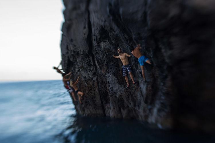 RePicture Team Climbing Sport Deepwatersolo
