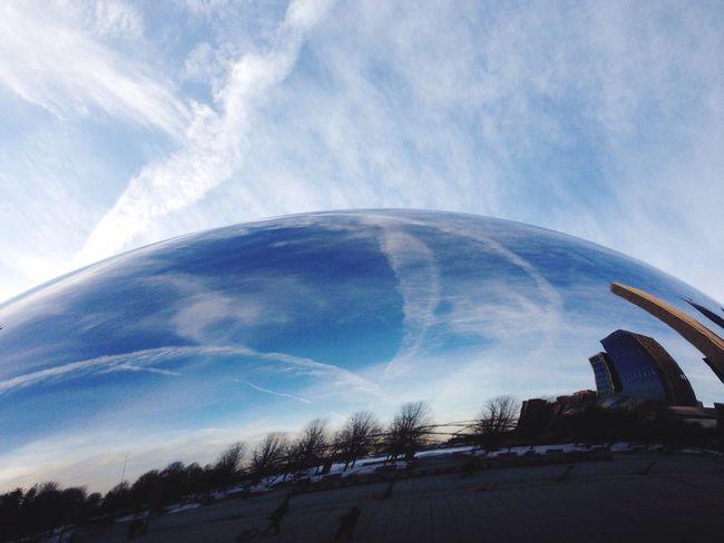 Cloud Gate Dew Drops March Sky