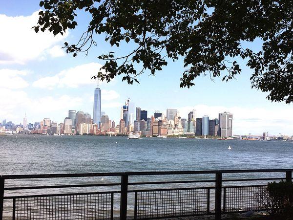 Liberty Island Skyline Hudson River