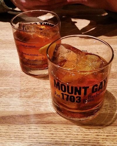 Classy drinks at a classy bar Winkandnod MountGay Originalcraft Tastetalks Boston Rum Oldfashioned Cocktail Fancydrinks Classy Igersboston VSCO Vscocam