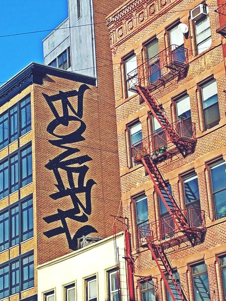 I know it looks as if i edited this in ,i didn't .this was actually painted on the building Bowery Street Hello World Taking Photos Urbanphotography Streetphotography Love Sreet Art NYC Check This Out NYC Photography Life Cityscapes Dopephotography