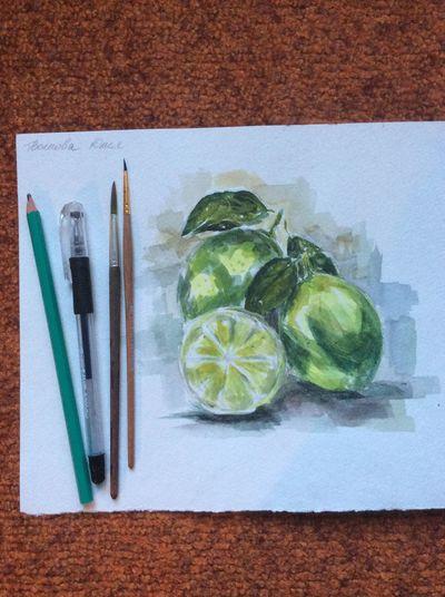 Fruits!! My summer work) My Art Hello World