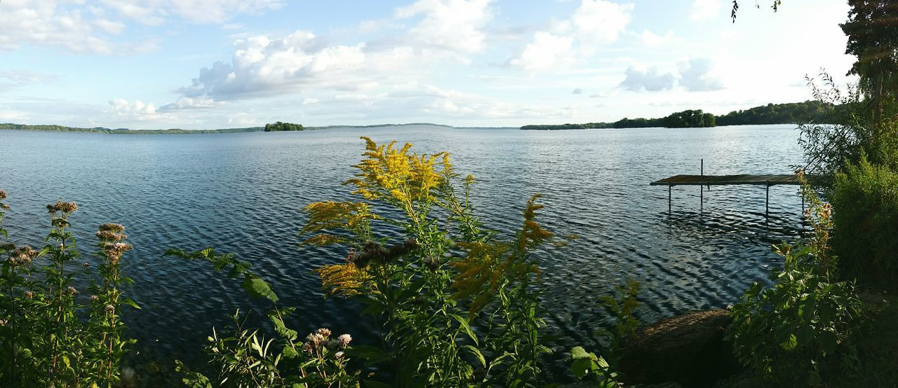 Water Lake Nature Sky Cloud - Sky Tree Outdoors Day Tranquility No People Plant Beauty In Nature Scenics Panoramic Photography Panorama Plönersee Plöner See Panorama View Beauty In Nature Power In Nature Nature Vacations