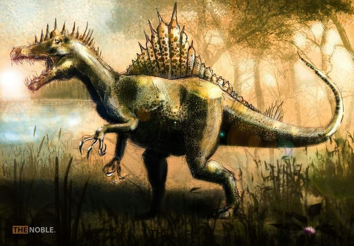 Hello World Landscape Digital Painting Painting Mypainting Drawing Art, Drawing, Creativity Animals Dinosaurs Spinosaurus
