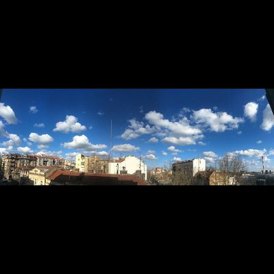 Morning Blue Sky Nofilter Panorama Belgrade Serbia Dorcol Spring Beautiful
