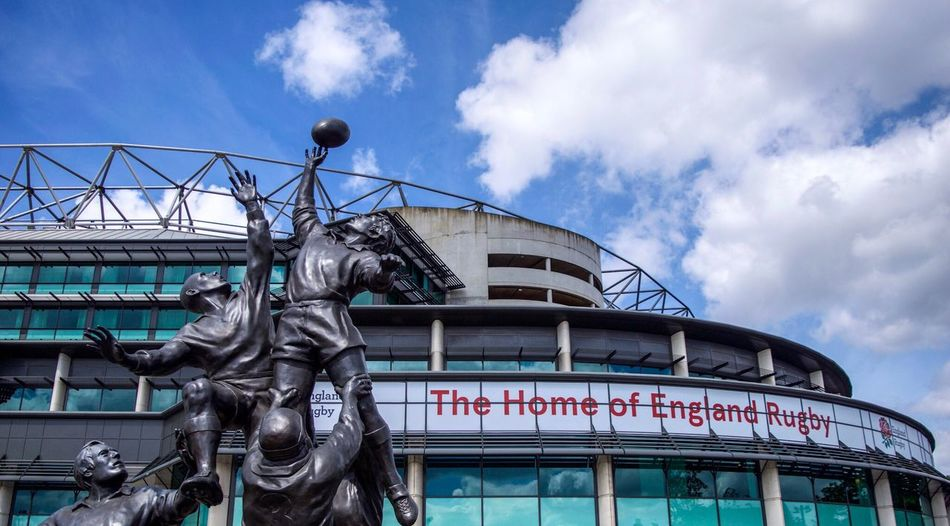 Twickenham Rugby Stadium, London 🇬🇧 Text Statue Cloud - Sky Architecture Sculpture Built Structure Day Building Exterior Sky Travel Destinations Monument Communication No People Outdoors Low Angle View City England Rugby Twickenham Rugby Twickenham Sport Sports Stadium London LONDON❤