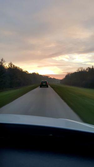 Sunset Car Road