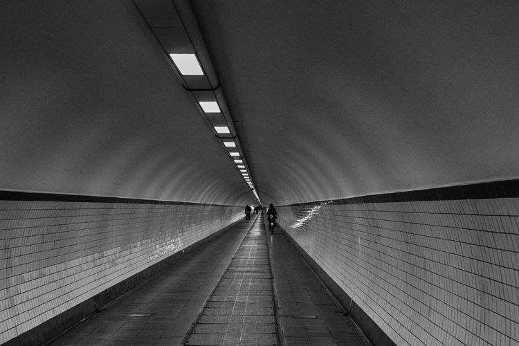 Architecture Built Structure Day Diminishing Perspective Empty Lifestyles Long Modern Narrow Ontheway Sky The Way Forward Tunnel Vanishing Point Walkway Antwerpen
