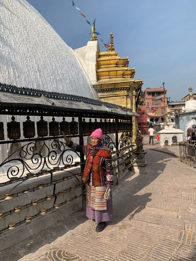Nepalese Costume Poor  Poorpeople Hinduism Temple Built Structure Building Exterior Real People One Person Women Building Religion Spirituality Belief Adult Travel Destinations