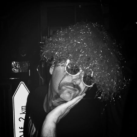 The Portraitist - 2015 EyeEm Awards Uniqueness Blackandwhite Greyscale Sunglasses At Night Sad Sadness Perücke Locken Verkleidung Verkleiden Schminken Welcome To Black